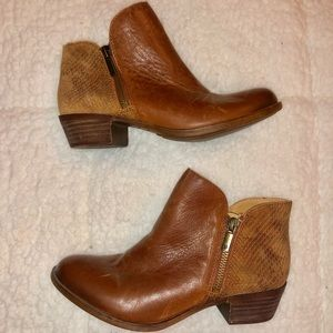 Lucky Brand Two Tone Blare Booties